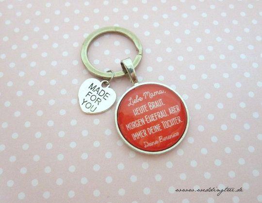 Geschenk Mama, personalisierter Schlüsselanhänger, Schlüsselanhänger Geschenk zur Hochzeit, Mutter,