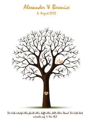 """Wedding Tree """"Trauspruch"""""""