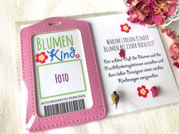 Blumenkind ID Ausweis - Geschenk für Blumenkinder