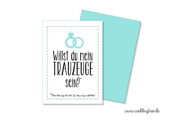 Postkarte Willst du mein Trauzeuge sein? Karte zur Verlobung