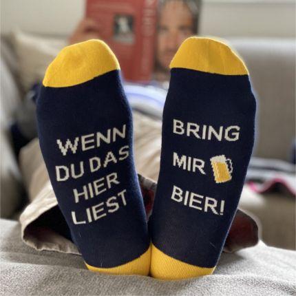 """Geschenk Auszeitsocken """"Bring mir Bier"""""""