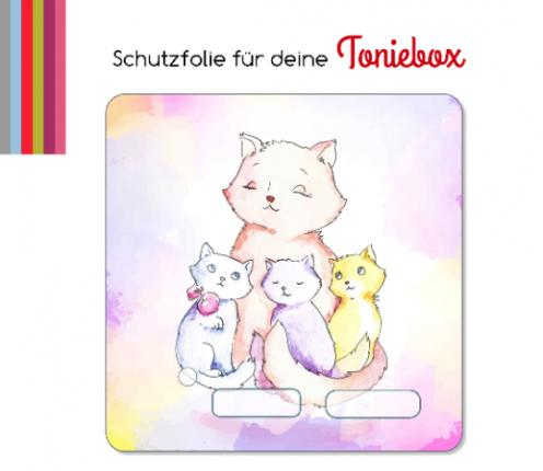Schutzfolie passend für Toniebox, Katzen