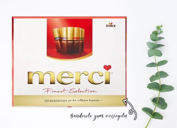 Aufkleber Set für Merci Schokolade | persönliches Geschenk für den Brautvater