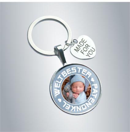 Schlüsselanhänger für den Patenonkel - personalisiert mit Foto
