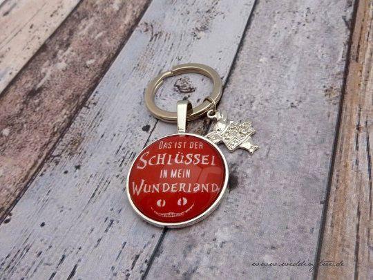 Anhänger Wunderland, Schlüssel, Schlüsselanhänger, Geschenk zum Einzug, Geschenk zum Zusammenziehen,