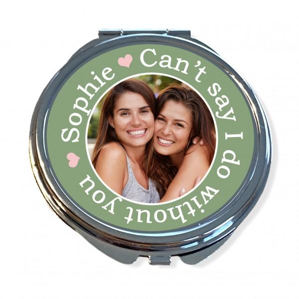 Taschenspiegel personalisiert mit Foto | Geschenk für die Trauzeugin