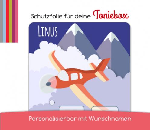 Schutzfolie passend für Toniebox, Flugzeug