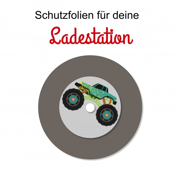Ladestationsticker passend für die Toniebox - Monster Truck