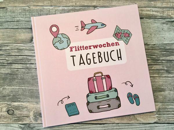 Flitterwochen Reisetagebuch Hochzeitsreise, Geschenk zur Hochzeit, Hochzeitsgeschenk, Geschenk für d