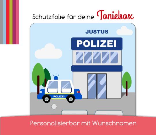 Schutzfolie passend für Toniebox, Polizei