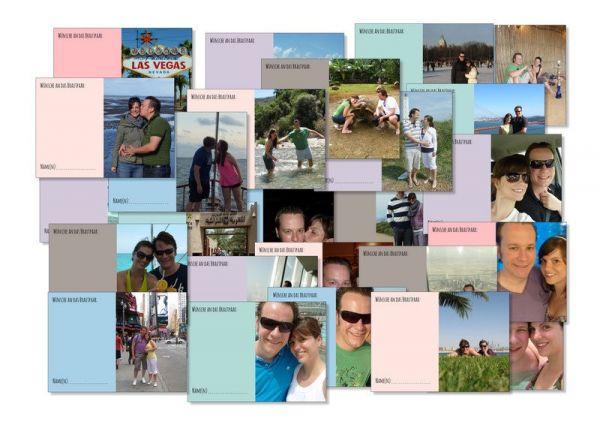Personalisiert 52 Karten Hochzeitsspiel | Postkartenspiel ein Jahr voller Fotogrüße