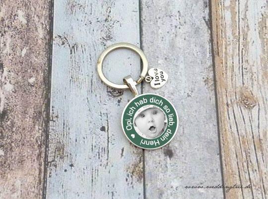 Opi Anhänger, Personalisierter Schlüsselanhänger, Großvater, Enkelkind, Geschenk Opa, Vatertag, Gebu