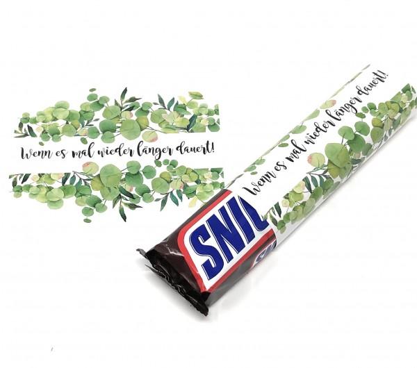 Banderolen zur Hochzeit, Wenn es mal wieder länger dauert, Grüne Blätter