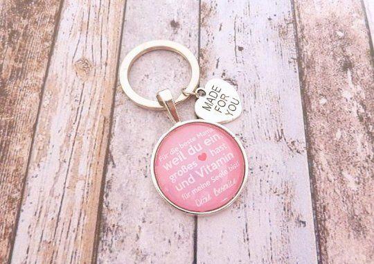 Geschenk Mama, personalisierter Schlüsselanhänger, Schlüsselanhänger Geschenk zur Hochzeit, Geburtst
