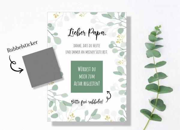 """Rubbelkarte Brautvater """"Bringst du mich zum Altar"""""""