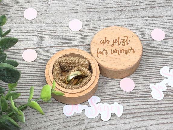Ringdose für Eheringe aus Holz, Ringkissen zur Hochzeit