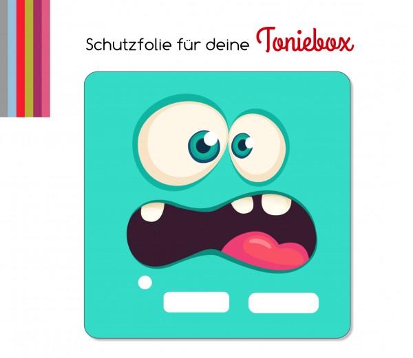 Schutzfolie passend für Toniebox, Funny Face türkis