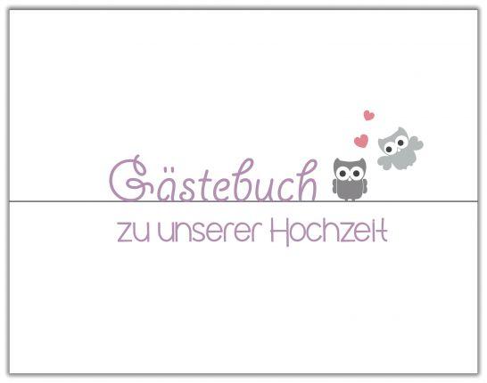 GÄSTEBUCH ZUR HHOCHZEIT | LILA EULEN