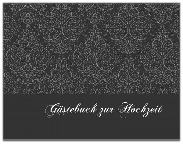 GÄSTEBUCH ZUR HOCHZEIT | SCHWARZ MUSTER